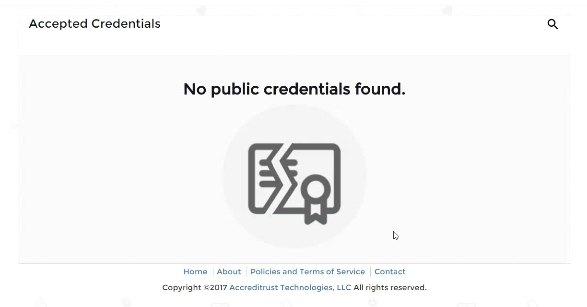 No Public Credentials Found
